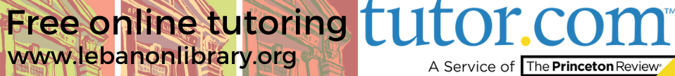 Free online tutoring at Lebanon Library