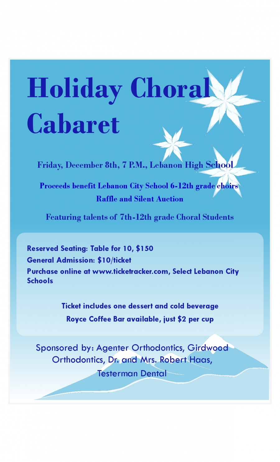 Choir fundraiser