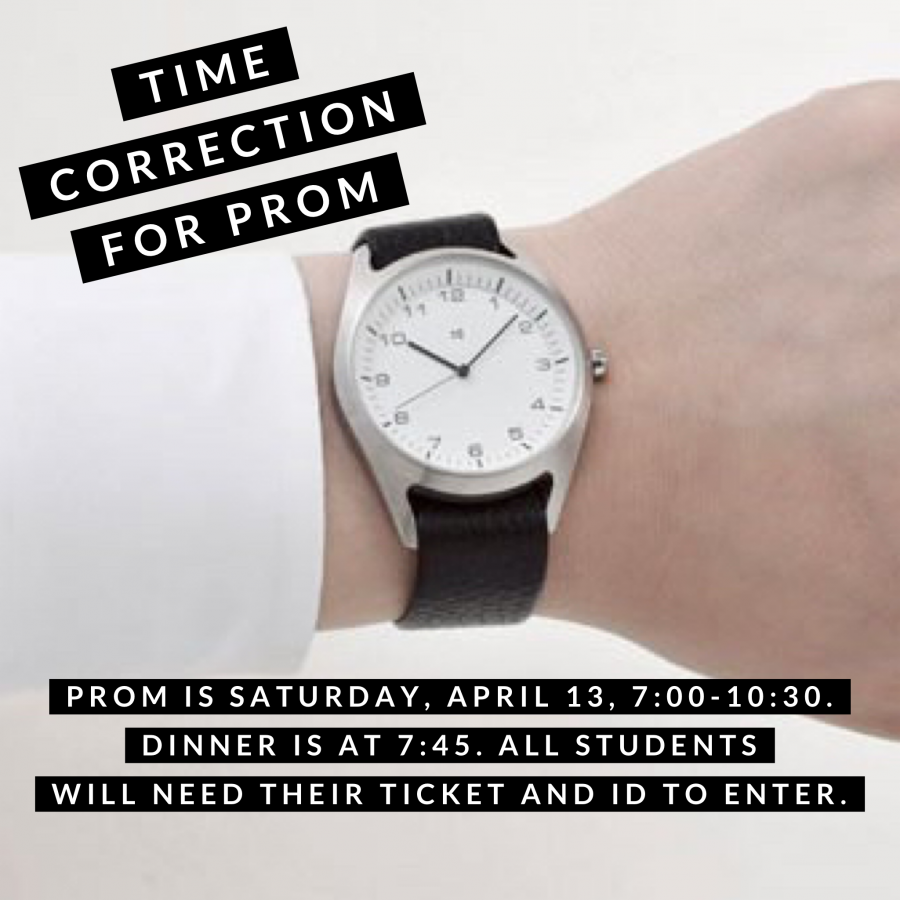 Prom is 7:00 to 10:30
