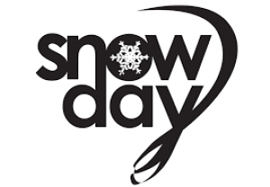 picture of a snowflake with the words snow day