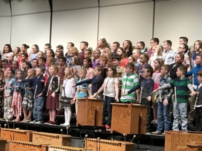 donovan students performing at music program