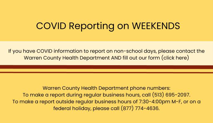 slide with instructions on reporting covid information