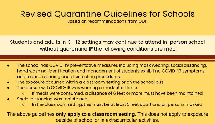 picture showing COVID quarantine guidelines