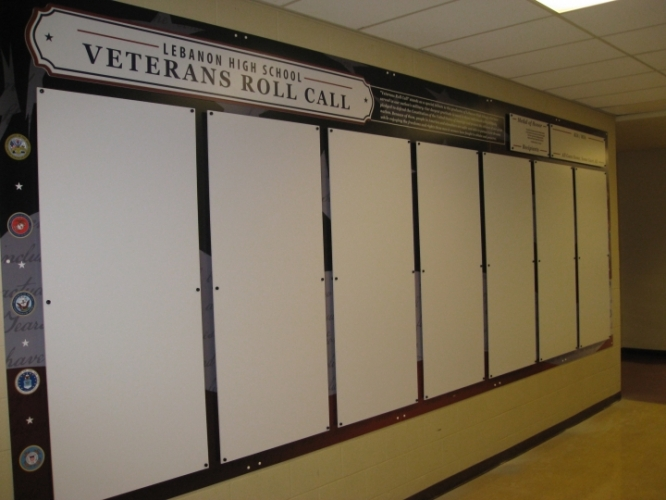 Military Roll Call Wall